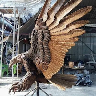 Creative Wood carved Animals and Birds hd Images