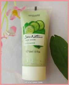 love nature face mask cucumber