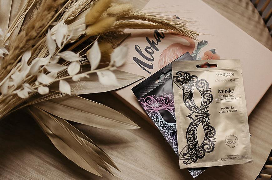 Dwie maski na tkaninie na okolice oczu Marion - pełen wymiar