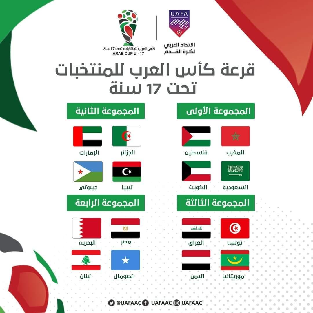 كأس العرب أقل من 17 سنة : الجزائر في المجموعة الثانية