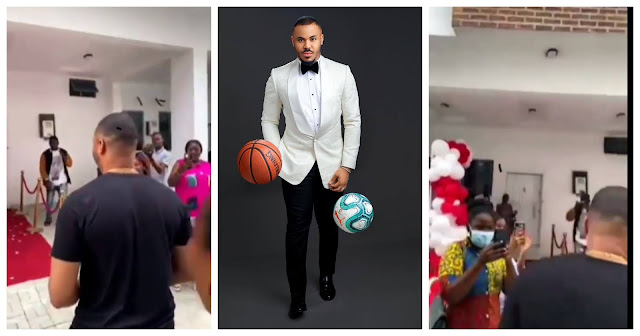 BBNaija star, Ozo receives a house as a birthday gift from his fans (Video)