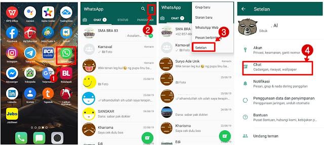 Cara Merubah Background Atau Wallpaper Chat Whatsapp Android