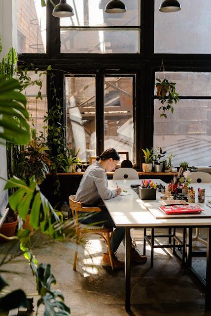 inspirasi meja kerja di rumah