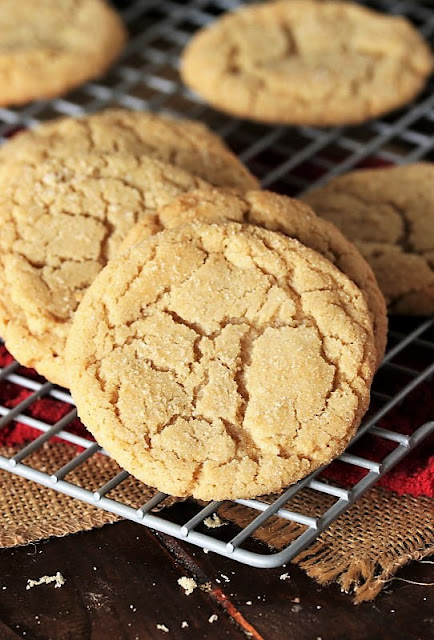 Soft & Chewy Brown Sugar Cookies on Cooling Rack Image