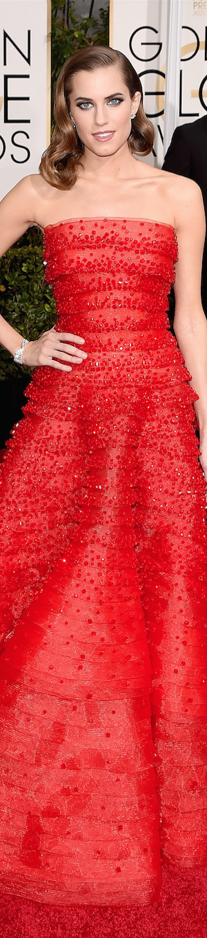 Allison Williams 2015 Golden Globes