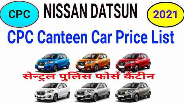 CPC Canteen Car Price List 2021 Nissan Datsun