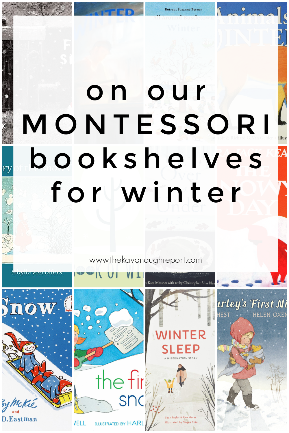 Here's a look at the Montessori friendly books on our shelves this winter from babies through elementary school.