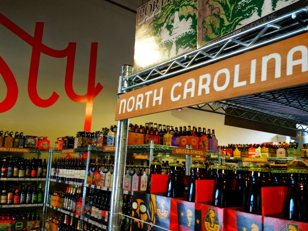 Local beers can be found at Tasty Beverage in Raleigh, N.C.