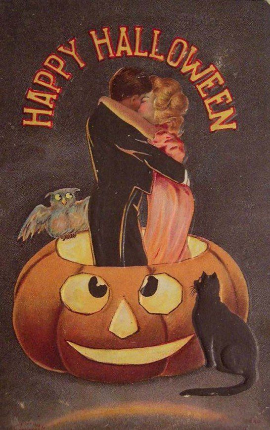 Старинные открытки в честь Хэллоуина - 16