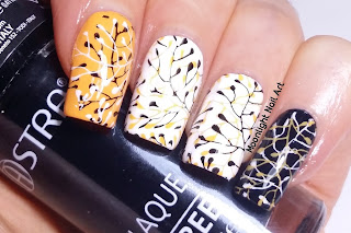 Fall Branches Nail Design - Video Tutorial - Moonlight Nail Art