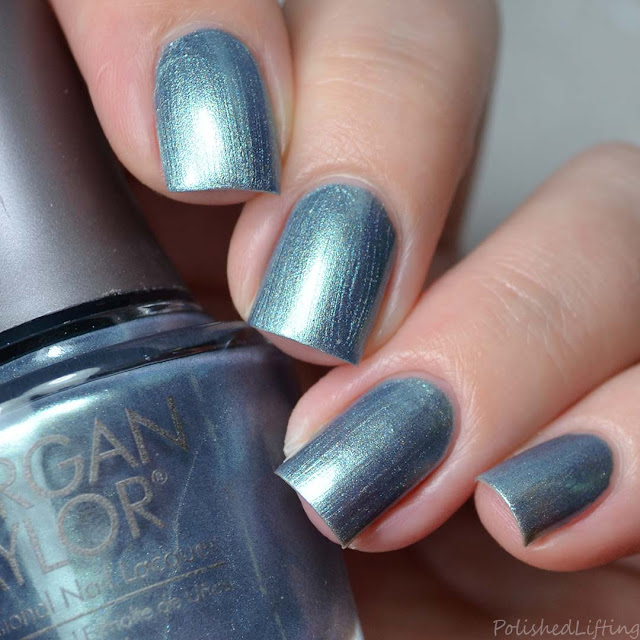 sea foam metallic nail polish