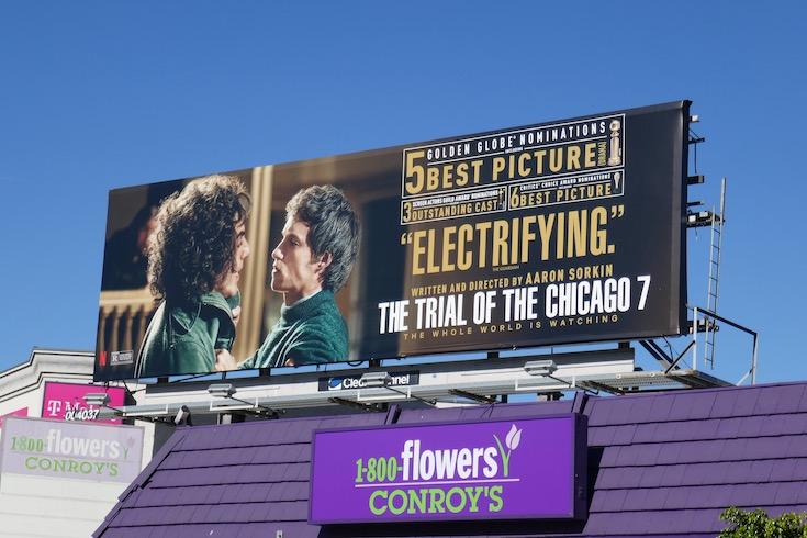 Trial of Chicago 7 nominee billboard