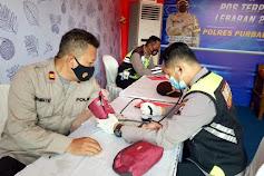 Urkes Polres Purbalingga Periksa Kesehatan Petugas Pengamanan Operasi Ketupat Candi 2021