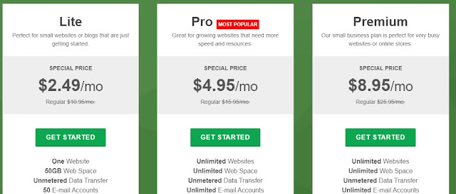 GreenGeeks cheap web hosting plan and discounts for beginners