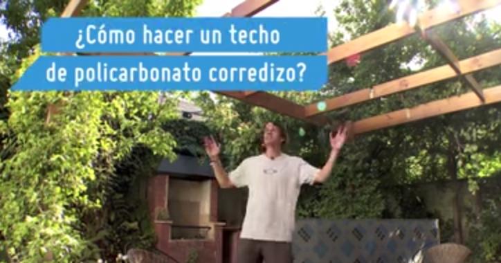 C mo hacer un techo corredizo de policarbonato - Como instalar un techo de policarbonato ...