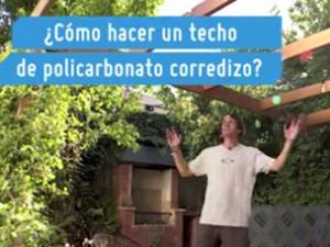 ¿Cómo hacer un techo corredizo de policarbonato?