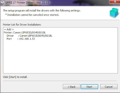 hướng dẫn cài đặt máy in canon lbp 6030 qua mạng
