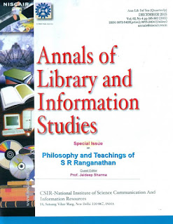ANNALS OF LIBRARY AND INFORMATION STUDIES (ALIS)