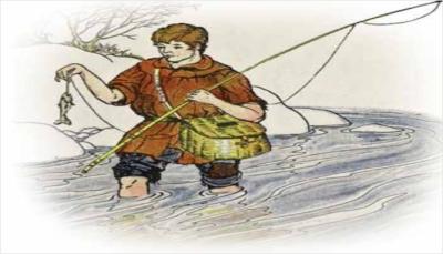 el cazador y el pescador fabula