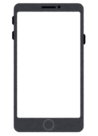 スマートフォンのフレーム素材のイラスト
