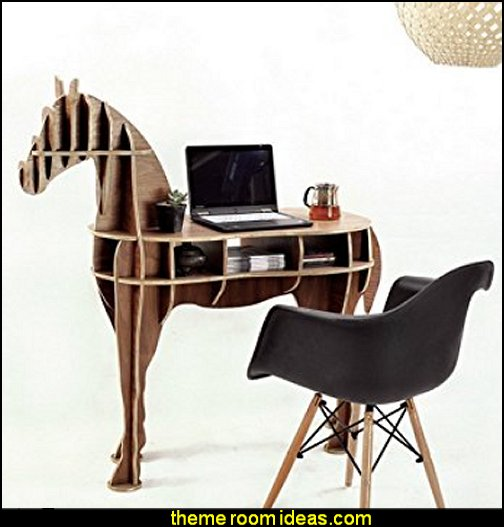 Wooden Horse Desk horse theme bedroom - horse bedroom decor - horse themed bedroom decorating ideas - Equestrian decor - equestrian themed rooms - cowgirl theme bedroom decorating ideas - Dressage Wall Decals - English riding theme - equestrian bedding - Horse Riding bedding