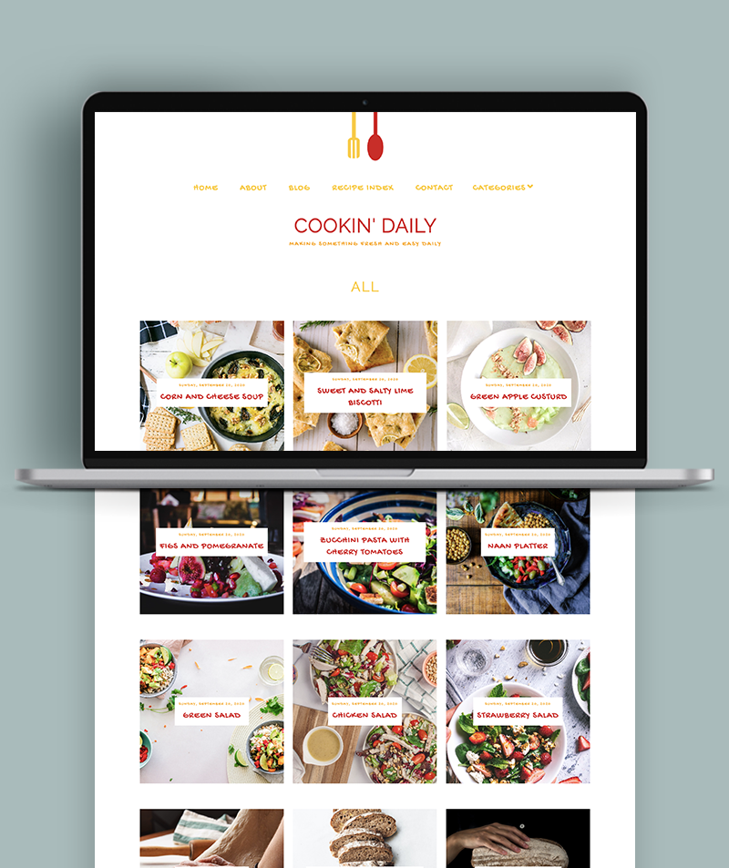 gallery pages for cookien daily blogger theme