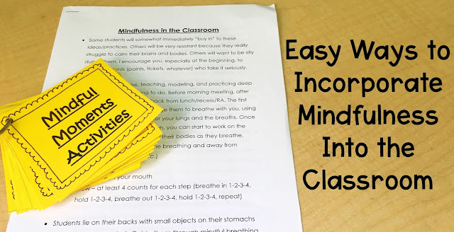 easy ways incorporating mindfulness into the classroom