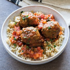 MOROCCAN LAMB MEATBALLS WITH SPICED TOMATO SAUCE