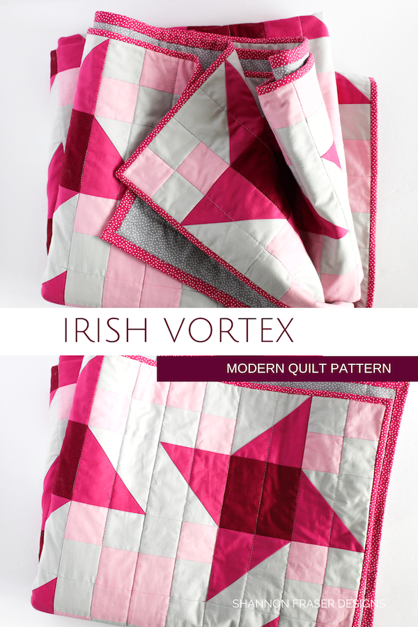 Irish Vortex Quilt Pattern | Modern Star Quilt featuring Cotton Couture Solids from Michael Miller Fabrics | Shannon Fraser Designs