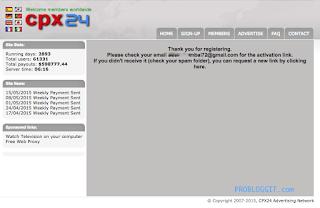 Cara Mendaftar dan Menghasilkan Uang Dari Program CPM CPX24