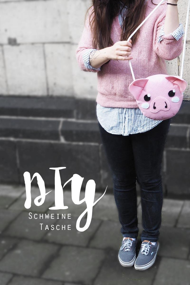 KuneCoco • DIY • Schweinetasche aus Filz selbst genäht