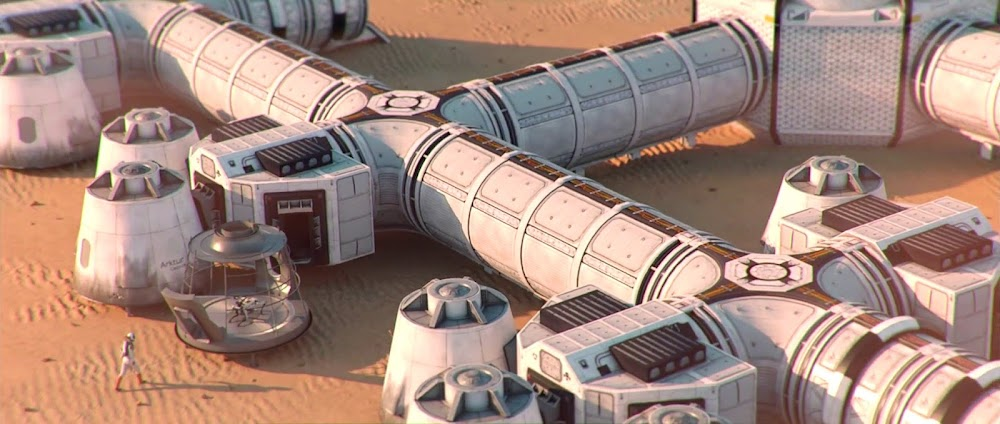 Building Mars base modules - image from Occupy Mars game