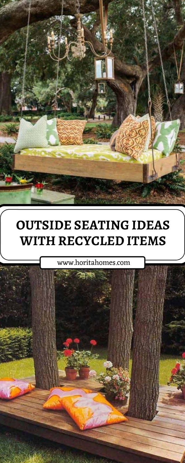 OUTSIDE SEATING IDEAS WITH RECYCLED ITEMS