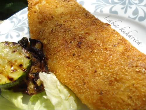 Crispy fried perch fillets by Laka kuharica: fillets coated with potato flakes and Pramesan are crispy and delicious