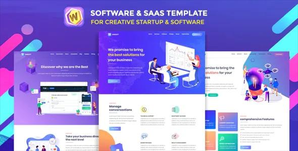 Best Saas Agency & Software Landing Page Template