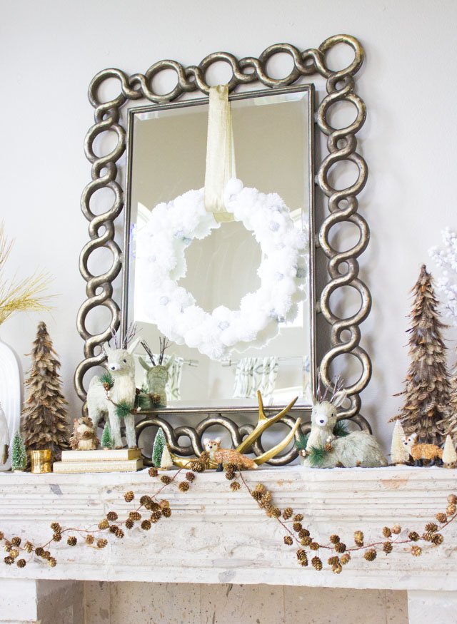 Ideas for a winter woodland themed Christmas mantel