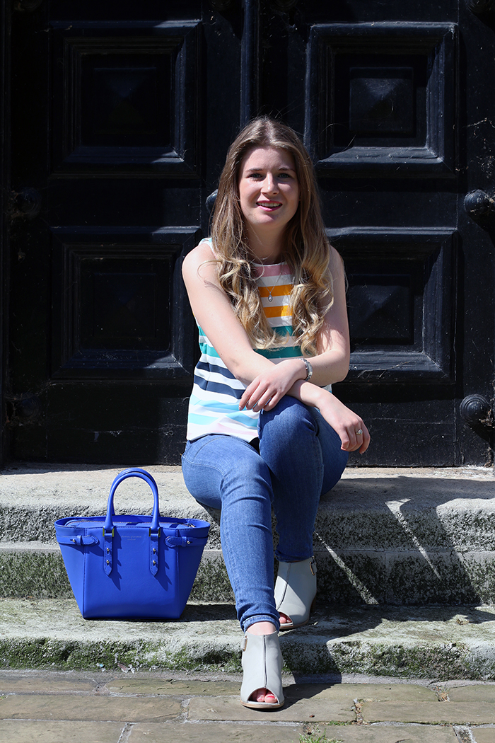zara stripe top fashion bloggers