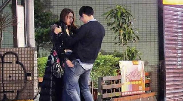 Diva Đài Loan ôm ấp bạn trai mới ở công viên