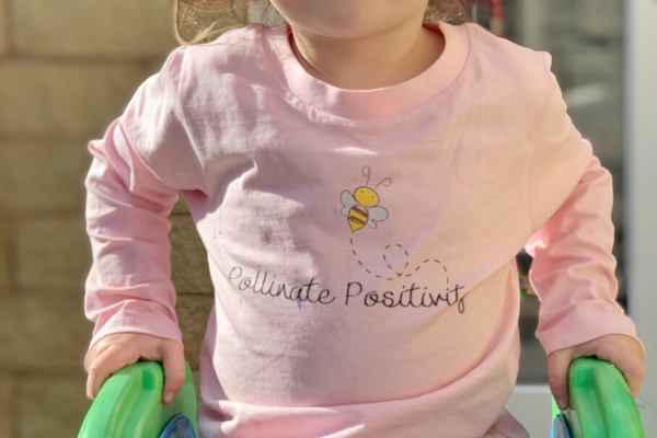 twinning with positive clothing from peonies & peace