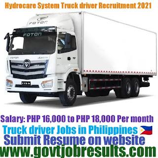Hydrocare System Truck Driver Recruitment 2021-22
