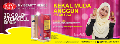 Giveaway 3D Gold StemCell Serum My Beauty Herbs Di Mialiana.com