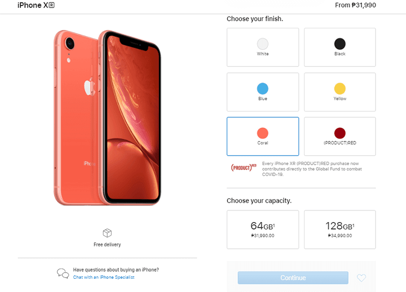 Get PHP 10K off the iPhone XR and 11 at the Apple webstore!