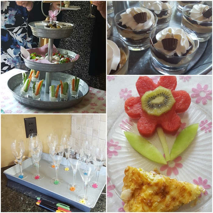 Bridal shower appetizers and drinks