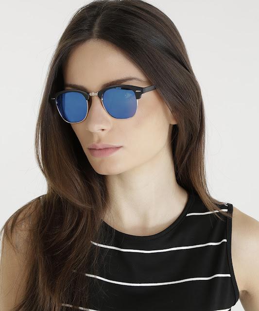 óculos redondo feminino oneself preto