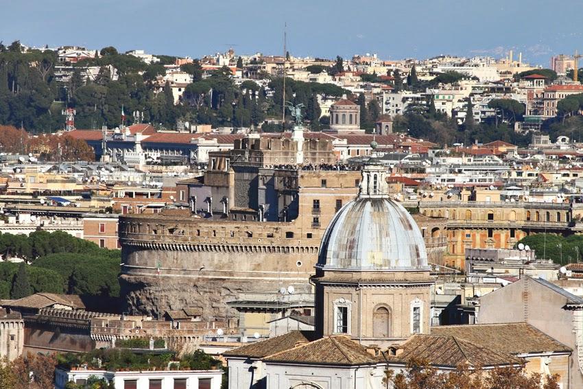 Widok z Gianicolo na Castel Sant'Angelo