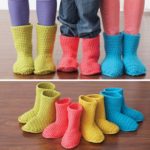 Slipper Boots - Free Pattern