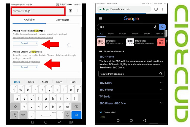 How to Enable Dark Mode for Google Chrome in Android
