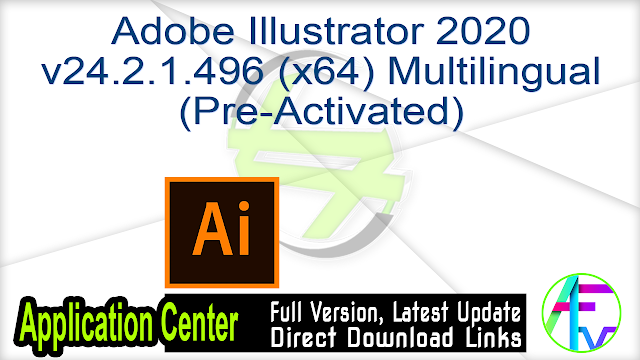 Adobe Illustrator 2020 v24.2.1.496 (x64) Pre-Activated