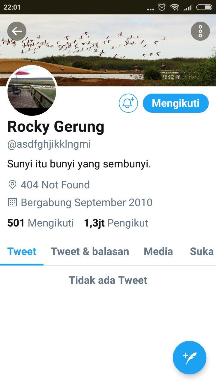 Jelang Pelantikan Jokowi, Akun Rocky Gerung Menghilang