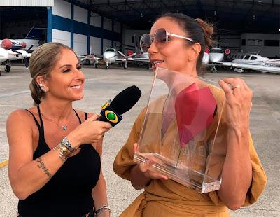 Ivete Sangalo recebe o Troféu Band Folia de Patricia Maldonado - Divulgação/Band